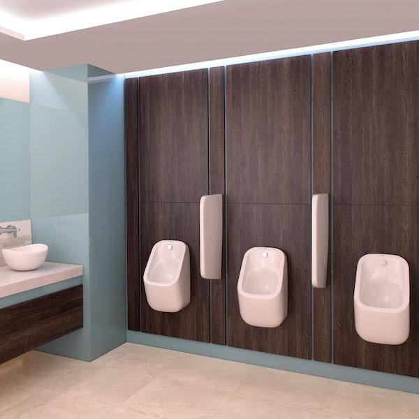 RAK Series 600 urinal with brackets