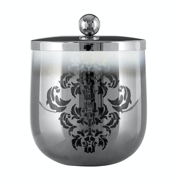 Elissa glass silver storage jar