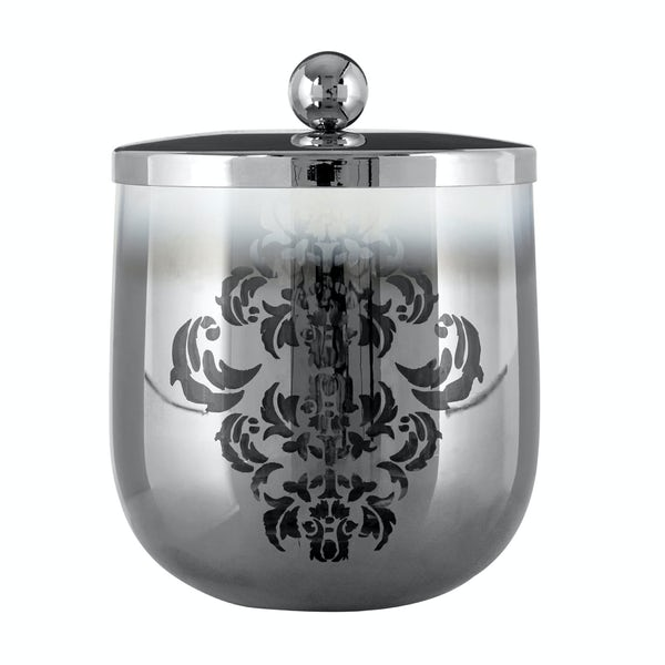 Elissa glass silver storage jar