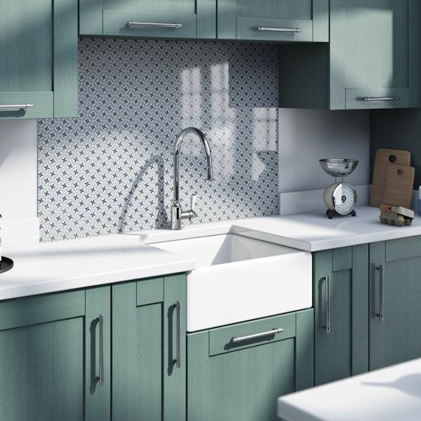 Schön Skomer traditional pull down kitchen mixer tap