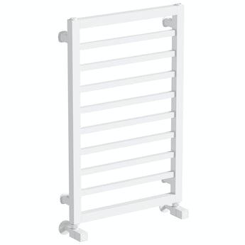 The Heating Co. Lagos white heated towel rail
