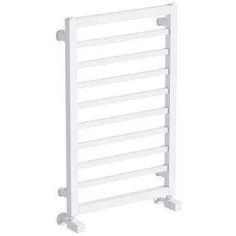 Mode Burton white heated towel rail 700 x 450