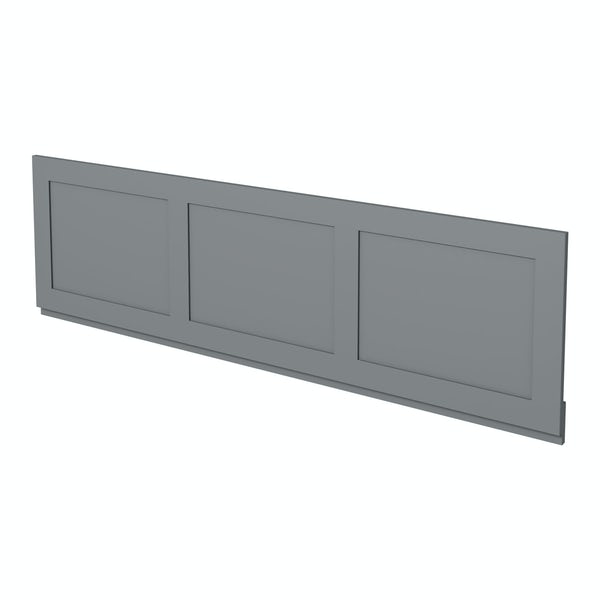 The Bath Co. Camberley satin grey wooden bath panel pack
