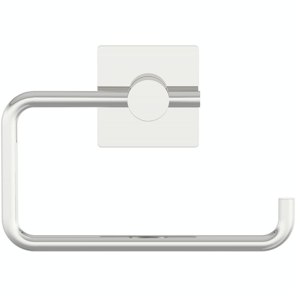 Accents square plate contemporary toilet roll holder