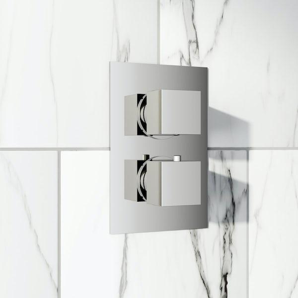 Cubik Square Twin Valve with Diverter