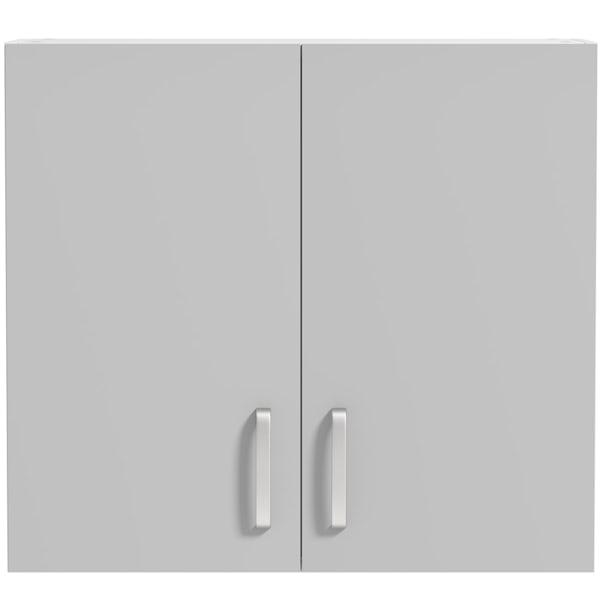 Schon Boston light grey 2 door slab wall unit