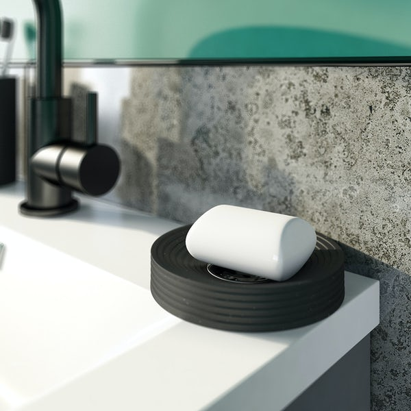 Accents black soap dish