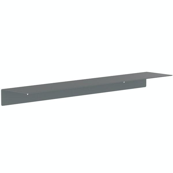 Accents Mono grey 600mm bathroom shelf