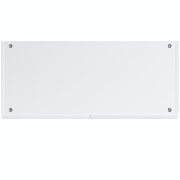 Schon Chicago white slab double wall unit