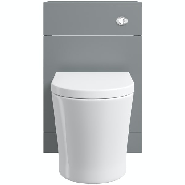 Orchard Elsdon stone grey back to wall unit with contemporary toilet & soft close seat