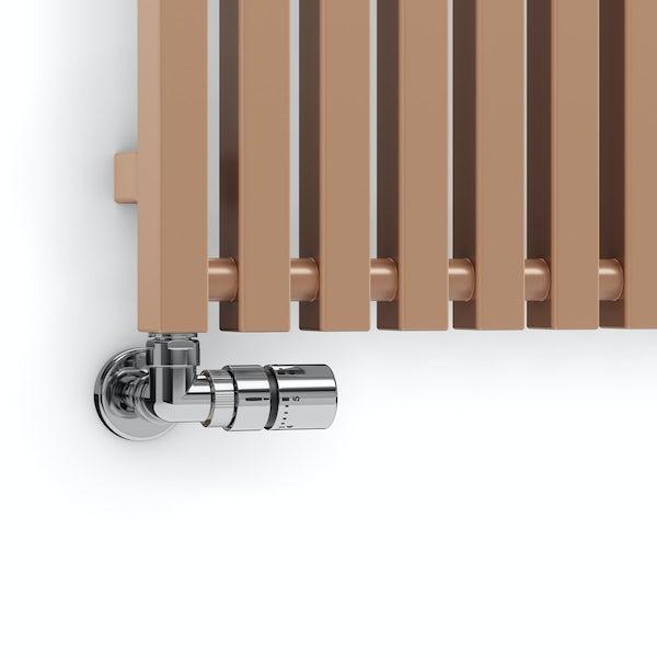 Terma Triga bright copper designer radiator