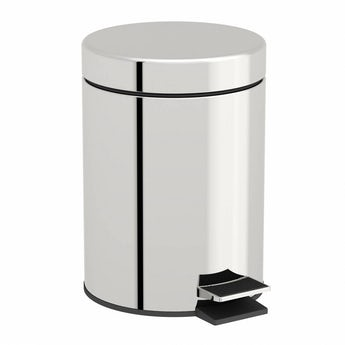 Orchard Options round stainless steel bathroom bin 3 litre