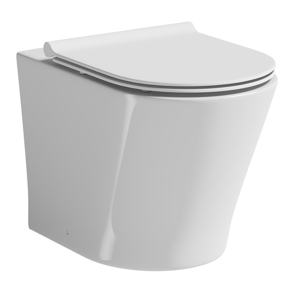 Mode Tate back to wall toilet in slimline soft close seat and concealed cistern