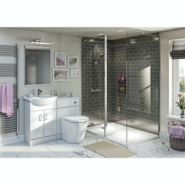 Sienna Arte Combination Unit with 8mm Frameless Walk In 1400 x 900