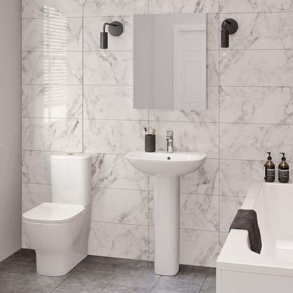 Ideal Standard Tesi cloakroom suite with full pedestal basin 550mm