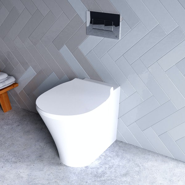 Ideal Standard Concept Air back to wall toilet with soft close toilet seat and concealed cistern