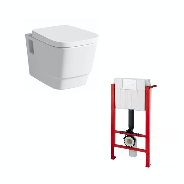 Foster Wall Hung Toilet and Wall Mounting Frame