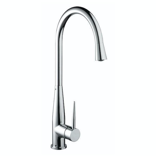 Bristan Champagne easyfit single lever kitchen mixer tap