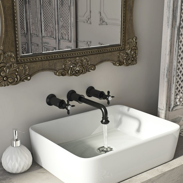 Belle de Louvain Castello wall mounted basin mixer tap