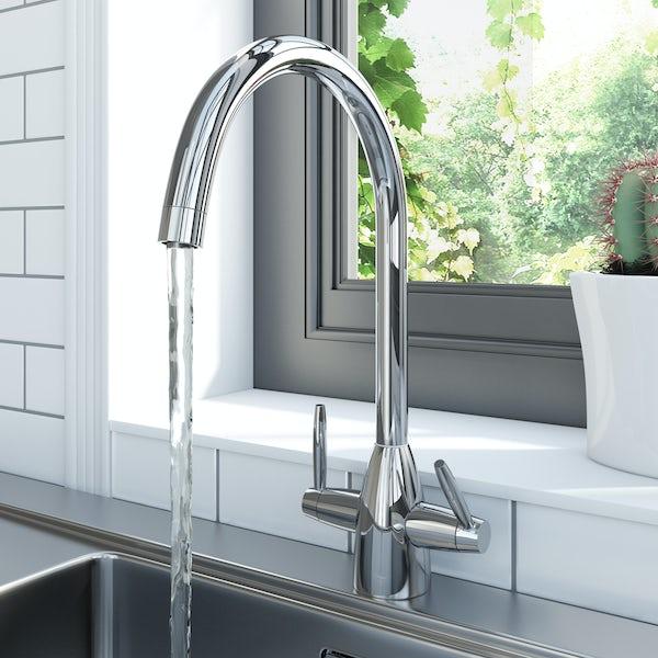 Schön dual-lever kitchen tap