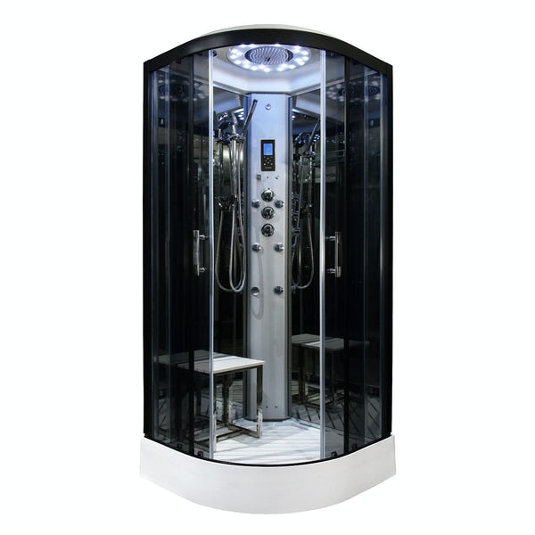 Insignia quadrant steam shower cabin 1000 x 1000
