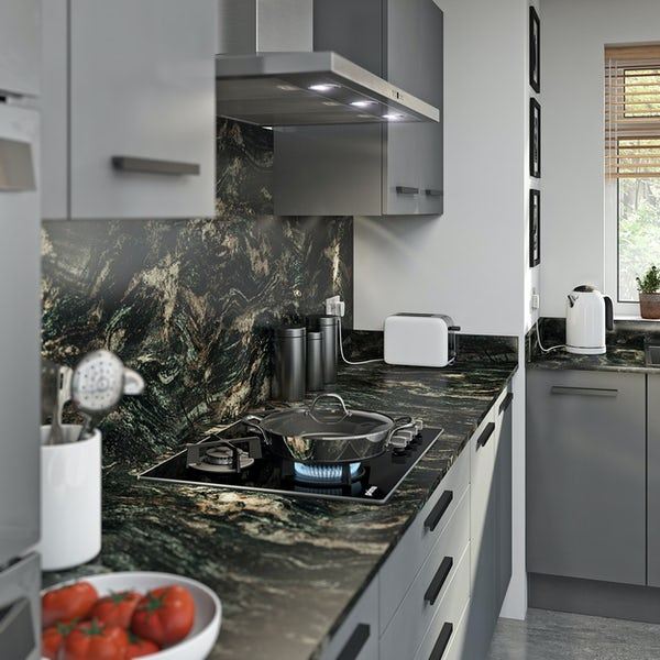 Formica Aria 12mm elemental graphite scovato worktop