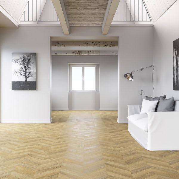 Faus Chevron Boho moisture resistant click flooring 8mm