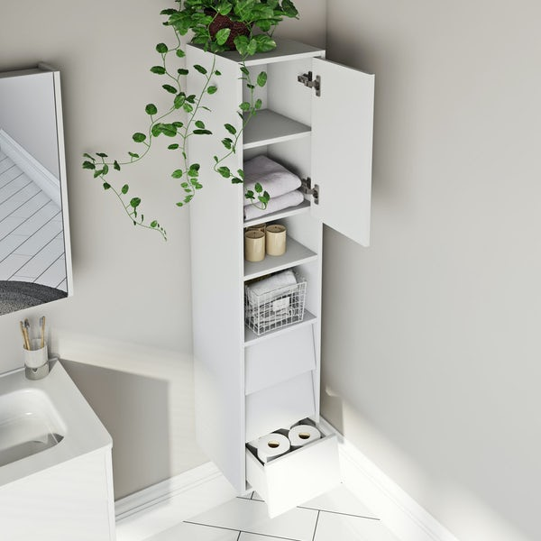 Mode Cooper white wall hung cabinet 1400 x 300mm
