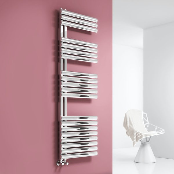 Reina Scalo brushed stainless steel designer towel rail