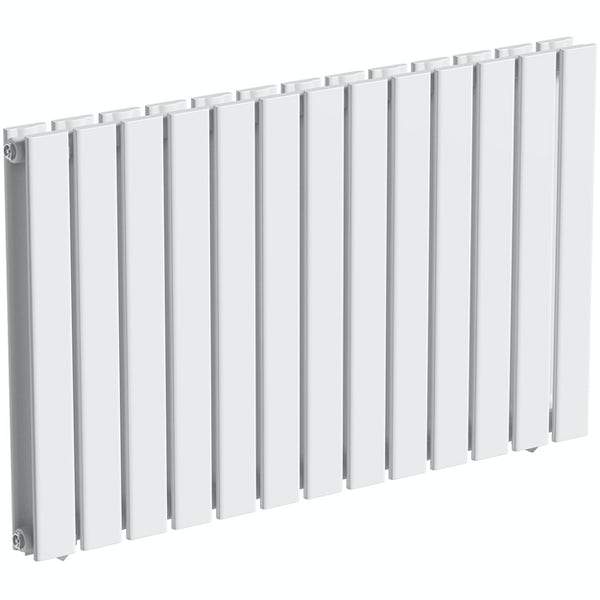 The Heating Co. Bonaire white double horizontal flat panel radiator