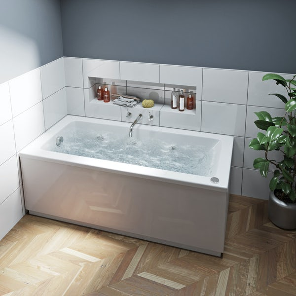 Mode Kensington single end 6 jet whirlpool bath 1500 x 700
