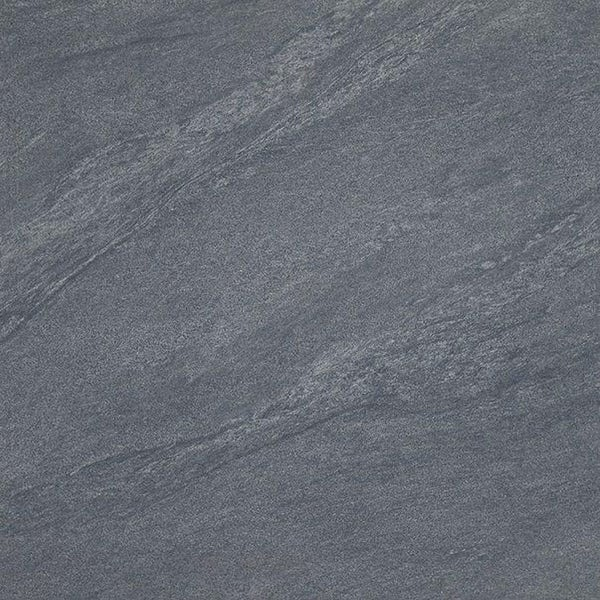 Alicura charcoal stone effect anti-slip matt wall and floor tile 600mm x 600mm