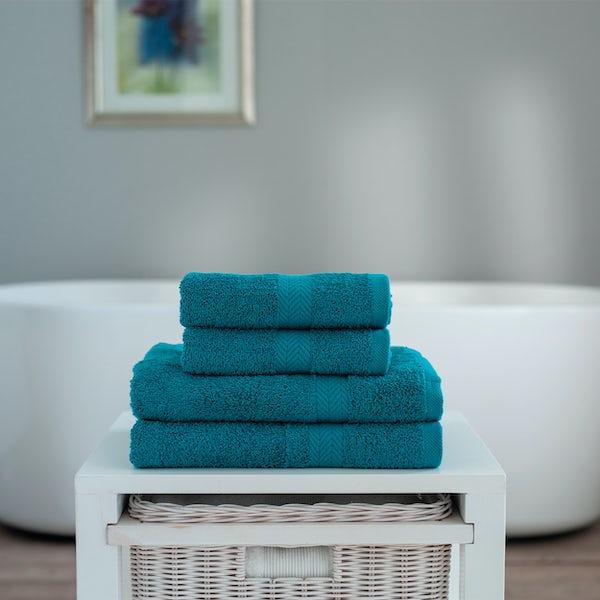 Deyongs Kingston 450gsm 4 piece towel bale teal