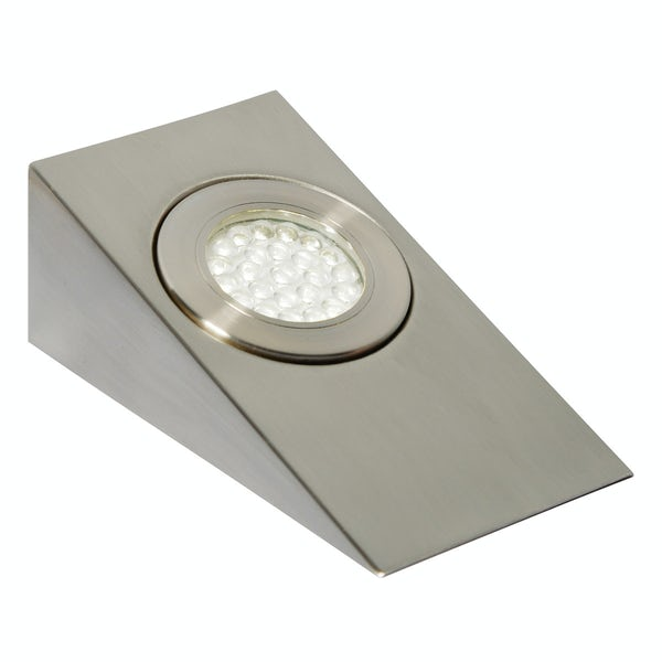 Forum Ziv 1.5w daylight white LED satin nickel under cabinet light