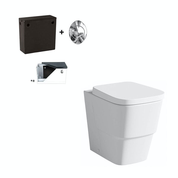 Foster Back To Wall Toilet Inc Seat and Concealed Cistern