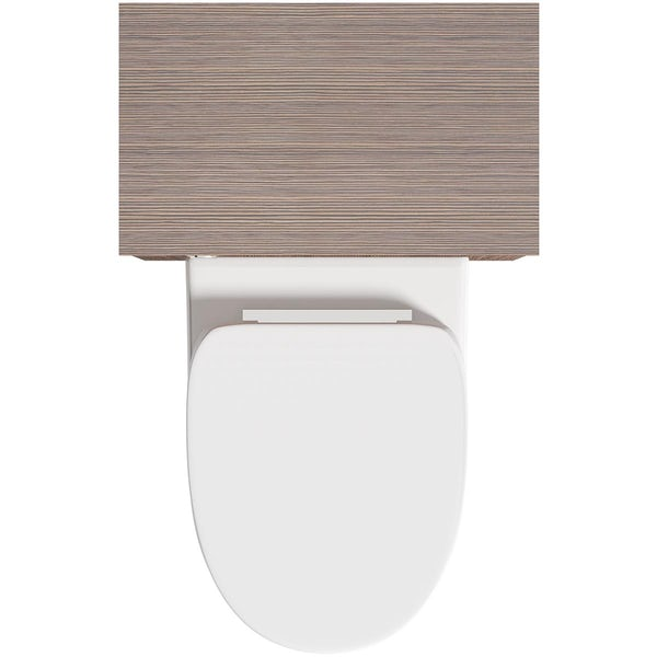 Orchard Wye walnut back to wall toilet unit with contemporary back to wall toilet