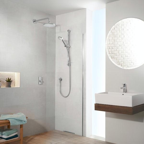 Aqualisa Visage Q Smart concealed shower standard with adjustable handset and wall head