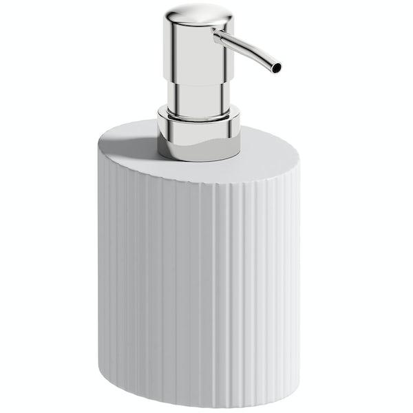 Accents Navagio white ceramic 3 piece bathroom set