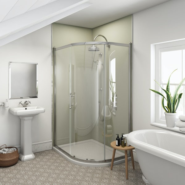 Multipanel Heritage Esher Matte unlipped shower wall panel 2400 x 1200