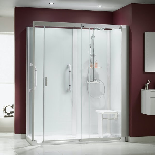 Kinemagic Serenity easy install bath replacement corner shower cabin