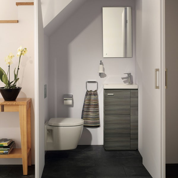 Ideal Standard Concept Space elm floor standing vanity unit with right handed basin 450mm