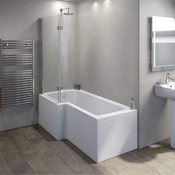Frameless Hinged Square Shower Bath Screen