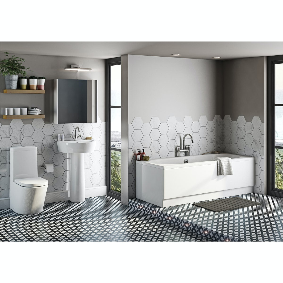 Charmant Mode Tate Bathroom Suite With Islington Double Ended Bath
