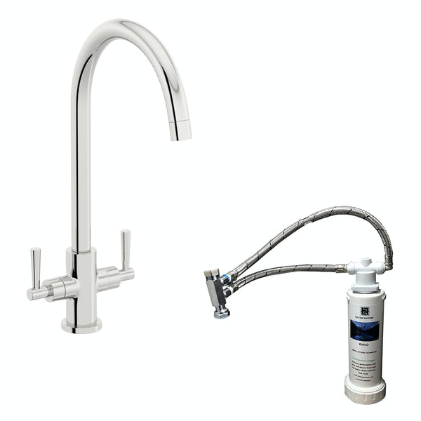 Schön C spout WRAS kitchen tap with complete filter kit