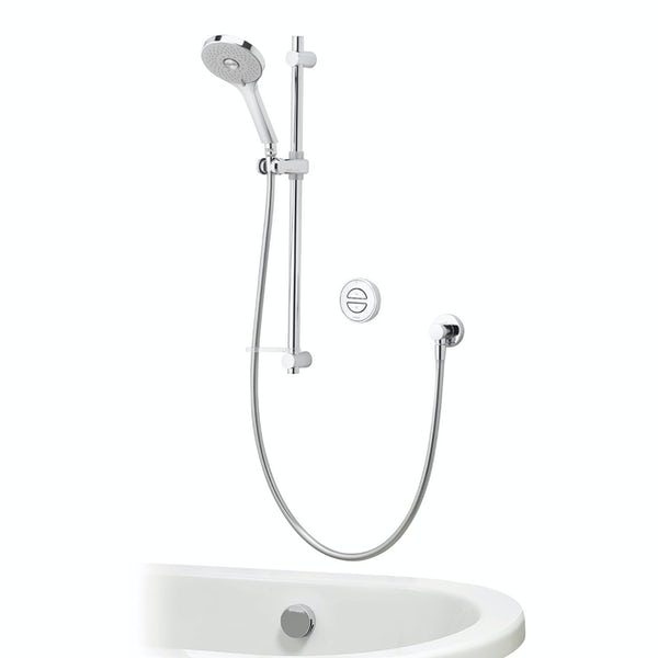 Aqualisa Unity Q Smart concealed shower pumped with adjustable handset and bath filler with overflow