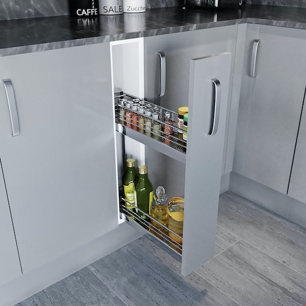 Schon Boston light grey 150mm pull out base unit