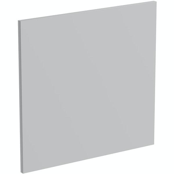 Schon Boston light grey 600mm semi integrated dishwasher fascia