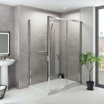 Multipanel Classic Premier Cool Mica unlipped shower wall panel 2400 x 1200