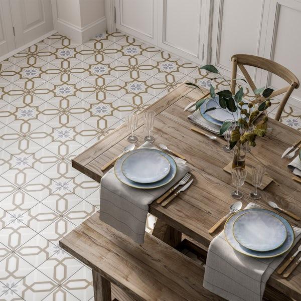 Valencia Ana traditional matt wall and floor tile 200mm x 200mm
