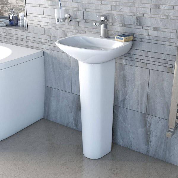 Heath 1TH 400mm Basin and Full Pedestal